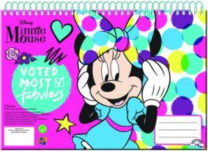 Minnie Glitter Μπλοκ Ζωγραφικής Α4-30 Φύλλα (340-51413)