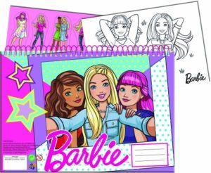 Barbie Μπλοκ Ζωγραφικής Α4 - 40 Φύλλα + Stickers (349-63416)
