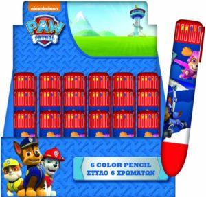 Paw Patrol Στυλό 6 Χρώματα-1Τμχ (334-13648)