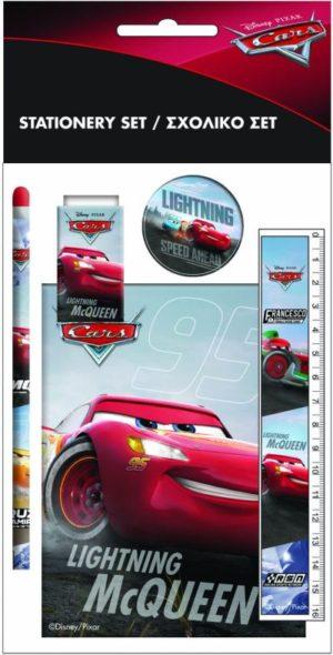 Cars Neon Σετ Σχολικό+Μπλοκ (341-43755)