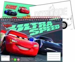 Cars Neon Μπλοκ Ζωγραφικής Α4+Stickers (341-41416)