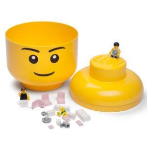 LEGO Κεφάλι Αποθήκευσης Large Yellow Boy 024 (299039)