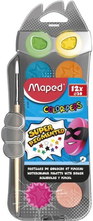 Maped Νερομπογιά 30mm-12 Χρώματα (811520)