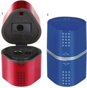 Faber Castell Ξύστρα Τριπλή Grip Trio-2 Χρώματα (12306182)