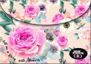 No Fear Pink Floral Φάκελος Κουμπί (347-60580)