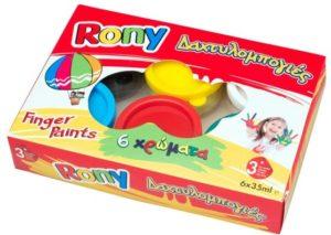 Δαχτυλοχρώματα Rony 35ml-6 Χρώματα (FP-6-35)