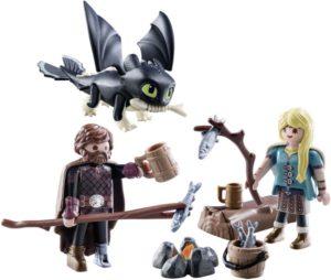 Playmobil Dragons Ο Ψάρης και η Άστριντ με ένα Δρακούλη (70040)