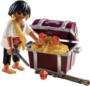 Playmobil Special Plus Πειρατής Με Σεντούκι Θησαυρού (9358)