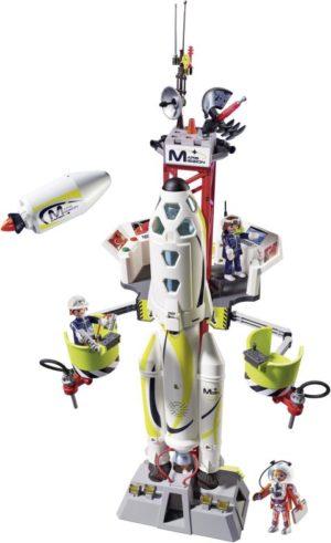 Playmobil Πύραυλος Διαστημικής Αποστολής Με Σταθμό Εκτόξευσης (9488)