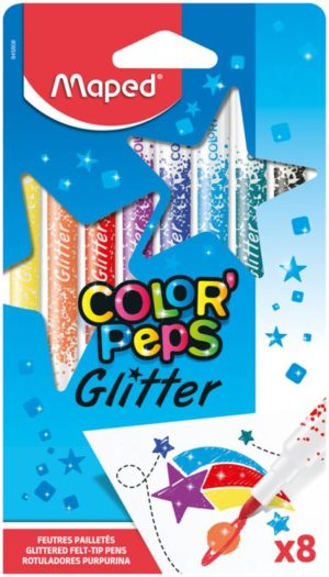 Maped Μαρκαδόροι Color' Peps Glitter-8Τμχ (845808)