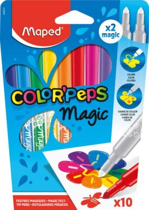 Maped Μαρκαδόροι Color' Peps Magic-10Τμχ (844612)