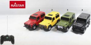 Rastar Τηλεκατευθυνόμενο Land Rover Defender 1:24 - 4 Σχέδια (78500)