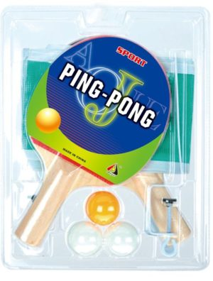 BW AJ 2 Ρακέτες Πινγκ Πονγκ+Δίχτυ+3 Μπαλάκια (AJ2147PP)