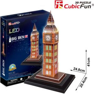 BW Παζλ 3D Big Ben LED-28Τμχ (L501H)