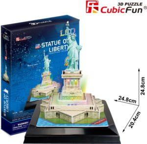 BW Παζλ 3D Άγαλμα Της Ελευθερίας LED-37Τμχ (L505H)