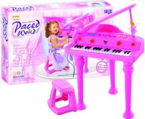 BW Πιάνο Paced Με Μικρόφωνο & Σκαμνάκι (HK-1388)