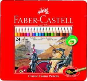 Faber Castell Ξυλομπογιές Σε Μεταλλική Συσκευασία 24Τμχ (12307479)