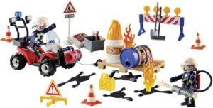 Playmobil Χριστουγεννιάτικο Ημερολόγιο-Επιχείρηση Πυρόσβεσης Εργοταξίου (9486)