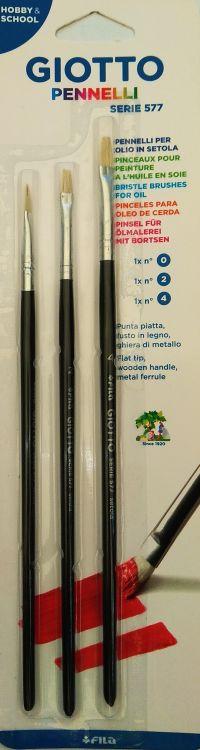 Giotto Πινέλα Νο 0-2-4 3Τμχ (026100)