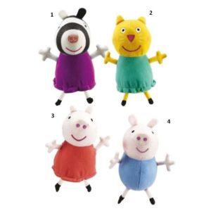 Peppa Pig Συλλεκτικά Λούτρινα Με Ήχο-4 Σχέδια (04431)