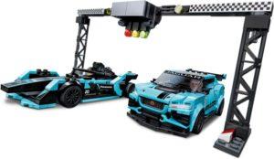 LEGO Speed Champions Formula E Panasonic Jaguar Racing GEN2 car & Jaguar I-PACE eTROPHY (76898)