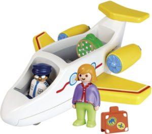 Playmobil 1.2.3 Αεροπλάνο Με Επιβάτη (70185)