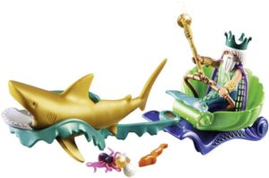 Playmobil Βασιλιάς Της Θάλασσα Με Άμαξα Καρχαρία (70097)