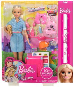 Λαμπάδα Barbie Dreamhouse Adventures-Barbie Έτοιμη Για Ταξίδι (FWV25)