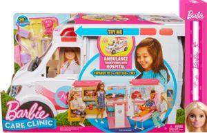 Λαμπάδα Barbie Κινητό Ιατρείο-Ασθενοφόρο (FRM19)