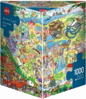 HEYE Παζλ 1000 Βόλτα Στο Πάρκο - Lyon (29837)