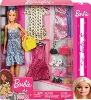 Λαμπάδα Barbie Party Fashions Σετ - Κούκλα & Ρούχα (GDJ40)