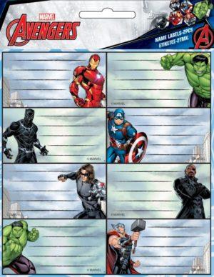 GIM Ετικέτα Avengers 2Τμχ (777-54146)