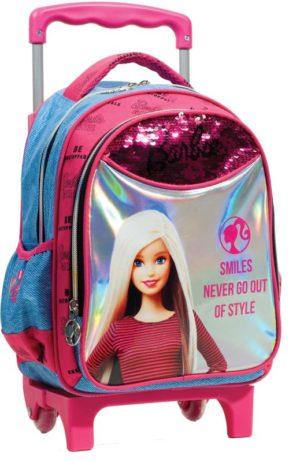 Barbie Denim Fashion Σακίδιο Νηπιαγωγείου Trolley (349-66072)
