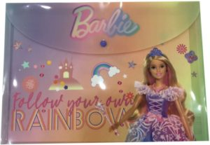 Barbie Φάκελος Κουμπί Α4 PP (349-65580)
