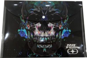 No Fear Glass Skull Φάκελος Κουμπί (347-81580)