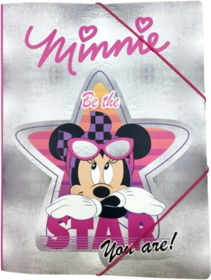 Minnie Glitter Ντοσιέ Λάστιχο Α4 PP (340-48515)